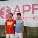 APF ACADEMIESで短期練習。
