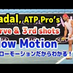 Rafael Nadal & ATP Pro's Serve 3rd shot Slow Motion 2020 Australian Open