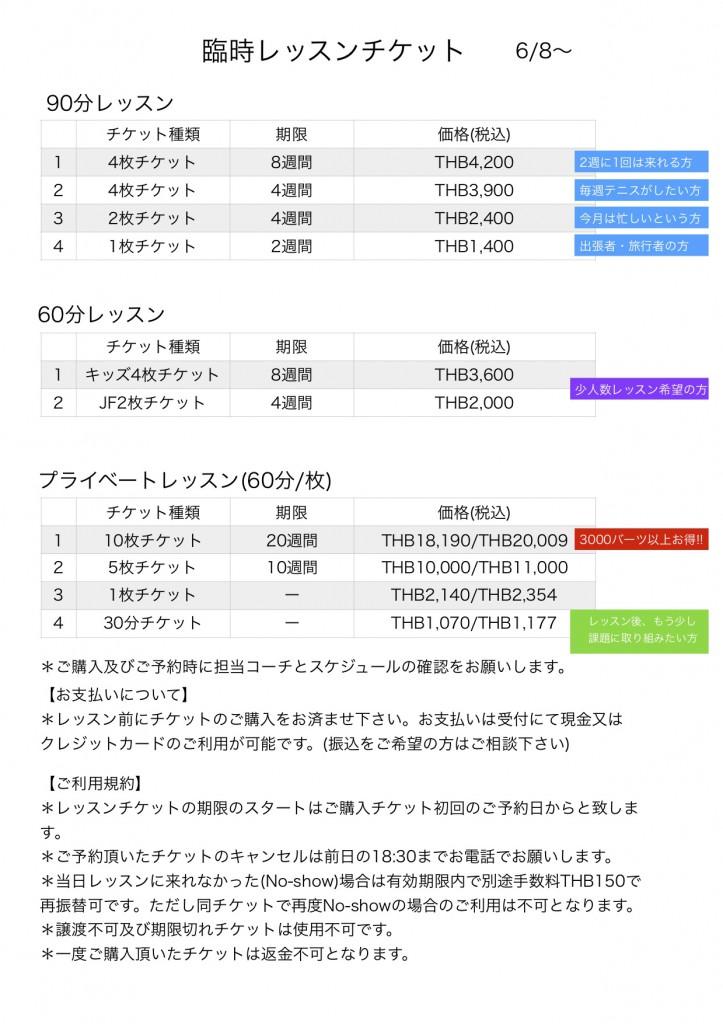 チケット価格 20200606