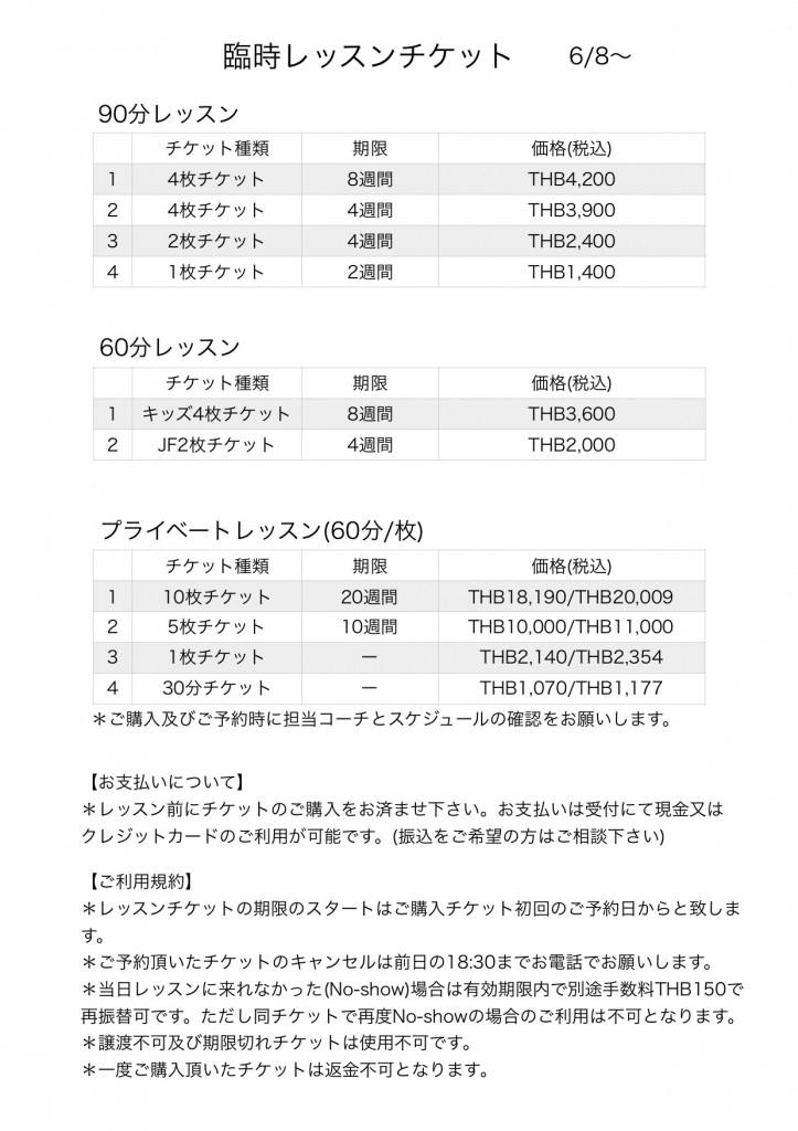 チケット規約と料金 20200606