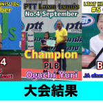 【PL PLB JA】大会結果。